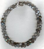 Moonstone and Labradorite drop necklace FAC1849