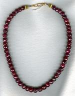 Faceted Ruby rondel necklace FAC1852