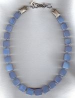 Natural blue Chalcedony necklace FAC1987