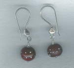 Raisin lampworked glass earrings VEN4290
