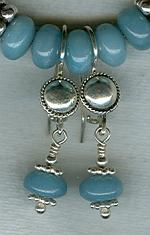 Amazonite rondel earrings FAC1861