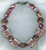 Pink salmon Venetian glass Necklace VEN4175