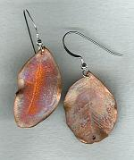 Bronze leaf earrings NUG2617
