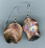 Bronze leaf earrings NUG2619