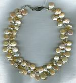 Biwa coin pearls faceted citrine briolette necklace PRL3132