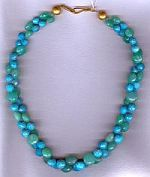 Sleeping Beauty Turquoise and Chrysoprase necklace CC6126