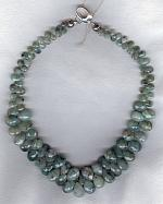 Faceted Emerald briolette necklace FAC1896