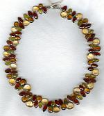 Citrine Quartz Garnet necklace FAC1907