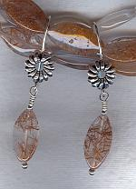 Rutilated Quartz earrings NUG2632