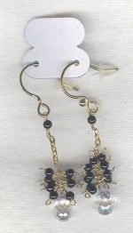 SPECIAL PURCHASE!!  Clear faceted Rock Crystal drop earrings FAC8086