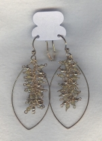 SPECIAL PURCHASE!!  Faceted Smoky Quartz drop earrings FAC8087