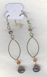 SPECIAL PURCHASE!!  Faceted Smoky Quartz drop earrings FAC8093