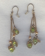 SPECIAL PURCHASE!!  Yellow faceted CZ drop earrings FAC8097