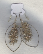 SPECIAL PURCHASE!!  Smoky Quartz bead earrings FAC8101