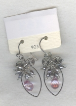 Silver Freshwater seed pearl earrings PRL3167