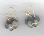Lampworked glass earrings VEN4297