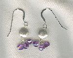 SPECIAL PURCHASE!!  Violet faceted CZ drop earrings FAC8160