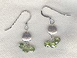 SPECIAL PURCHASE!!  Silver/violet CZ drop earrings FAC8161