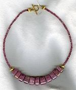 15mm triangle cut faceted pink Tourmaline Necklace CC6100