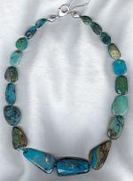 Peruvian Opal with Sleeping Beauty Turquoise necklace FAC1694