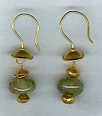 Green Grossular Garnet 11mm rondel earrings NUG2407