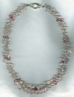 Rose Quartz and pink Topaz necklace FAC1916