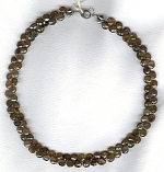 Andalusite briolette necklace FAC1917