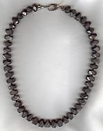 Hematite with gray Quartz necklace FAC1925